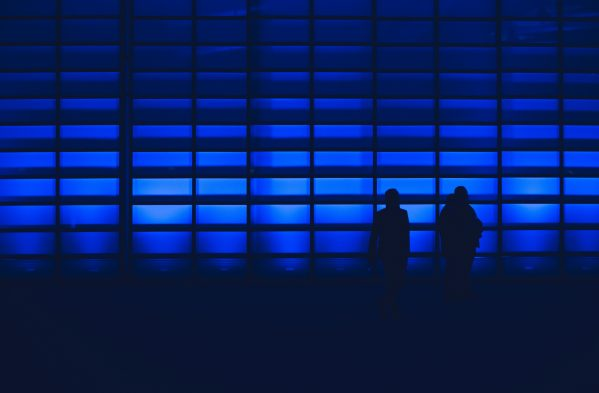 blue wall silhouette