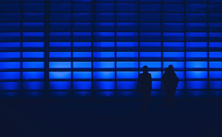 blue wall silhouette
