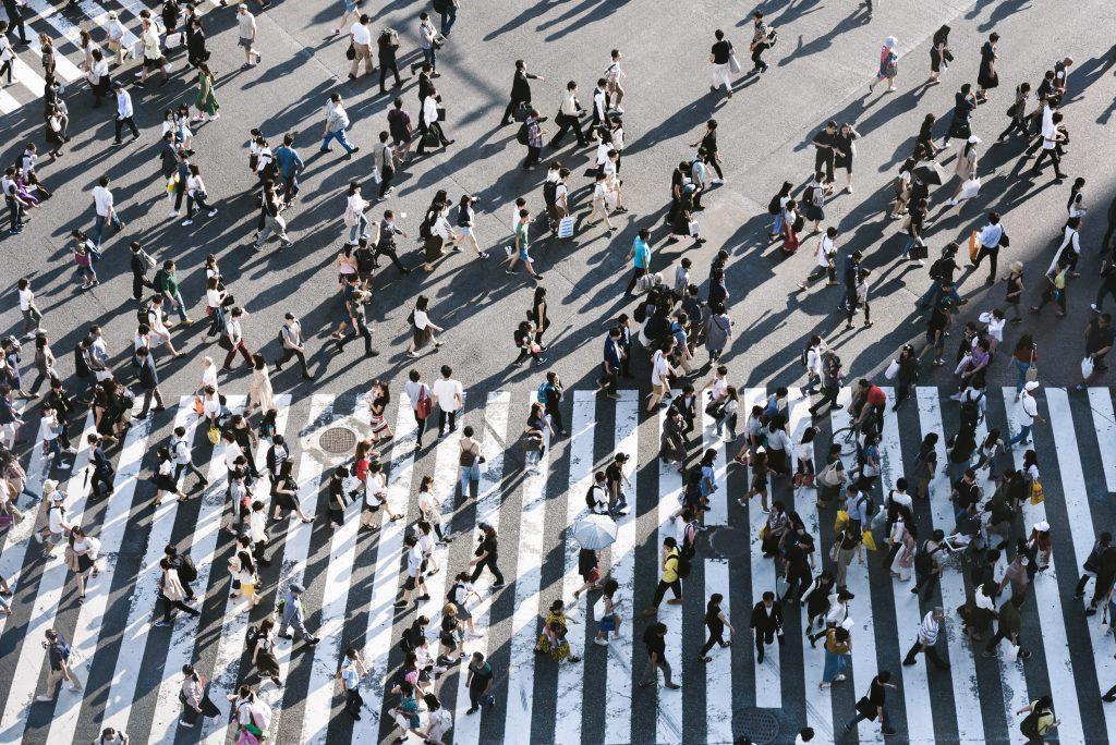 crowd japan